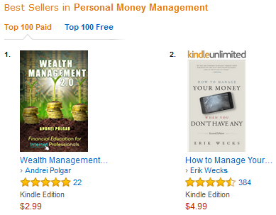 Wealth Management 2 0 Became an Amazon Best Seller!!! (    and Other